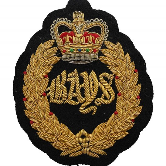 2nd Dragoon Guards Queens Bays 2nd Dragoon Guards Regiment Cloth Wire BULLION Veterans Blazer Badge