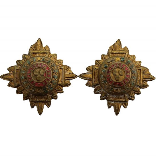 British Army Officers Insignia Pips - Rank of 2nd Lieutenant Set PAIR - 30mm Diagonally