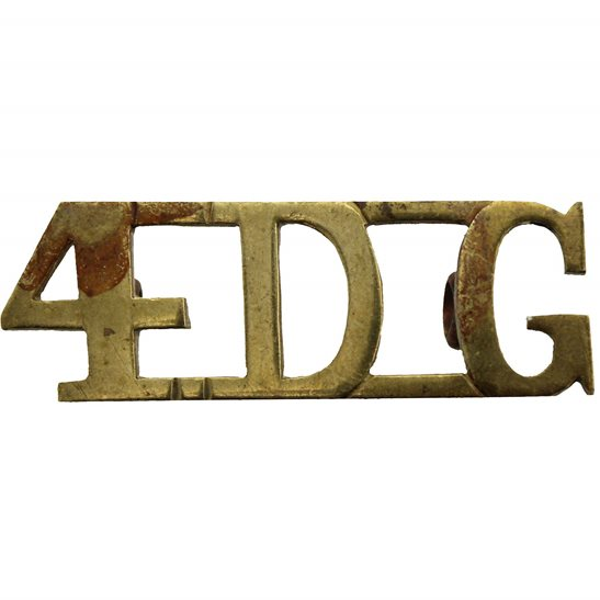 4th Royal Irish Dragoon Guards WW1 4th Royal Irish Dragoon Guards Regiment 4DG Shoulder Title