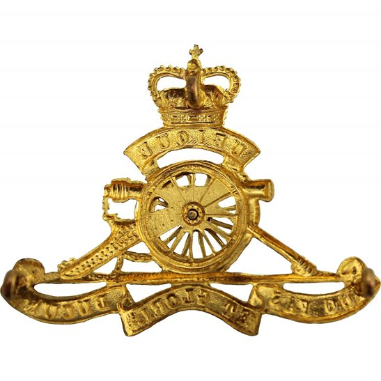 additional image for Queens Crown Royal Artillery Regiment MOVING WHEEL Cap Badge