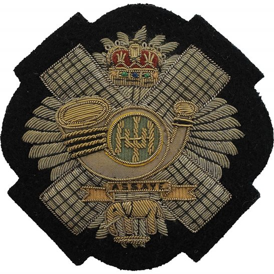Highland Light Infantry Highland Light Infantry Regiment Cloth Wire BULLION Veterans Blazer Badge Patch