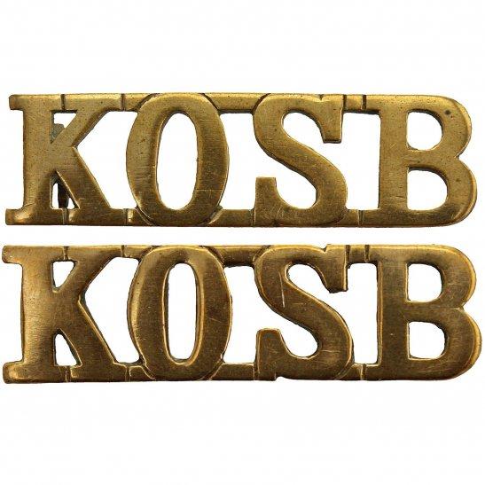 Kings Own Scottish Borderers Kings Own Scottish Borderers Regiment KOSB King's Shoulder Title PAIR
