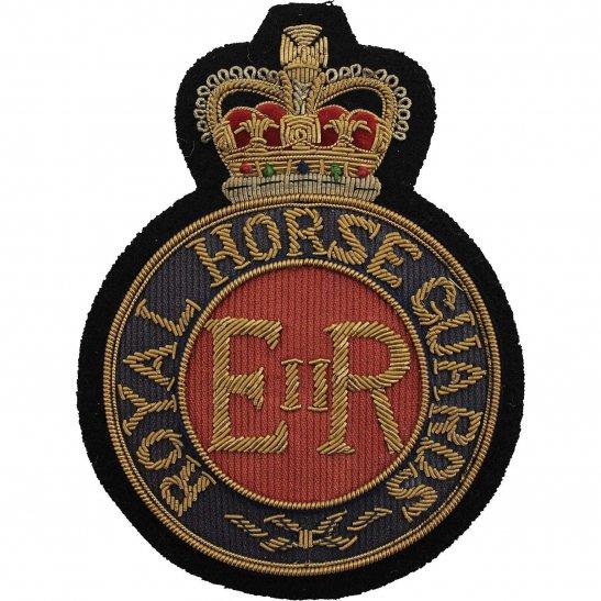 Royal Horse Guards RHG Royal Horse Guards RHG Regiment Cloth Wire BULLION Veterans Blazer Badge