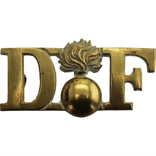 Royal Dublin Fusiliers EDWARDIAN Royal Dublin Fusiliers RDF Irish Regiment Shoulder Title