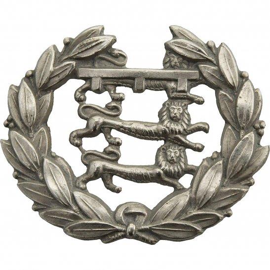 Leicestershire Regiment Leicestershire Regiment, 1st Volunteer Battalion, White Metal Collar Badge