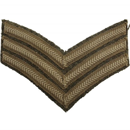 WW2 British Army Sergeants Cloth Chevron Insignia Rank Stripes