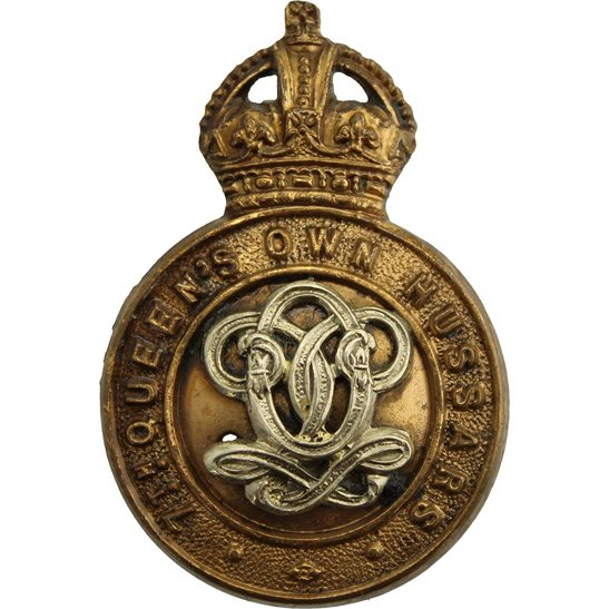 7th Hussars 7th Queens Own Hussars Regiment (Queen's) Cap Badge