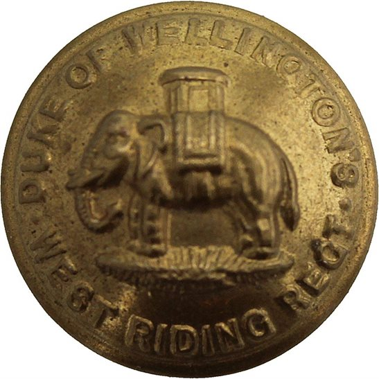 West Riding The Duke of Wellingtons West Riding Regiment SMALL Tunic Button - 19mm