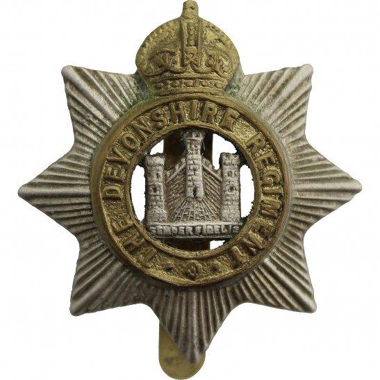 Devonshire Regiment WW2 Devonshire Regiment Cap Badge