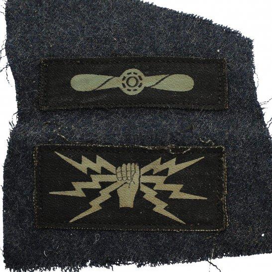 Royal Air Force RAF WW2 Royal Air Force RAF Telecommunications Leading Aircraftman Cloth Insignia Rank Badge