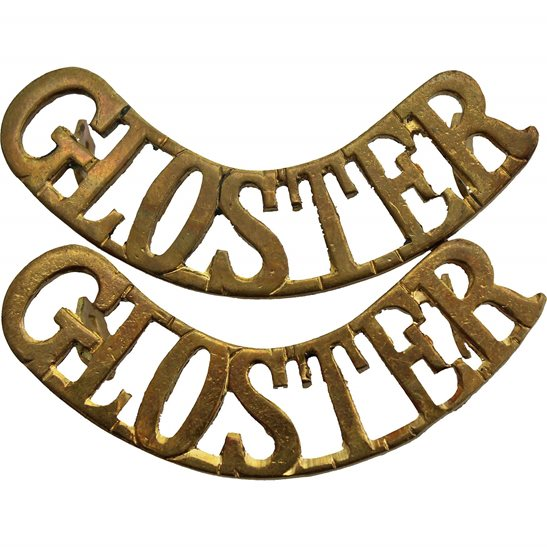 Gloucestershire Regiment Gloucestershire Regiment (Gloster) Shoulder Title PAIR