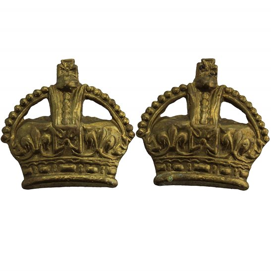 British Army Officers Insignia Crown Pips PAIR - Rank of Major