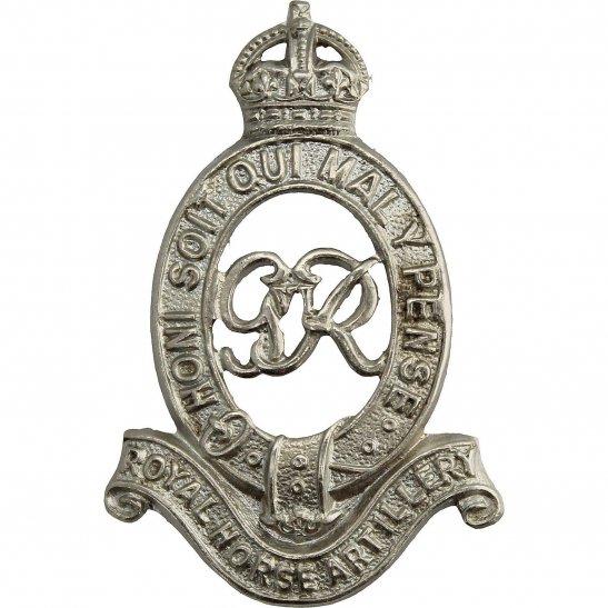 Royal Horse Artillery RHA WW2 Royal Horse Artillery Regiment (George VI) RHA Cap Badge