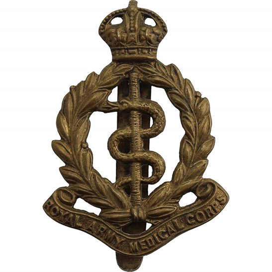 Royal Army Medical Corps RAMC Royal Army Medical Corps RAMC Cap Badge - F.E. WOODWARD B'HAM Makers Mark