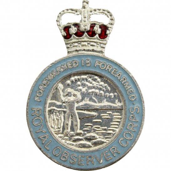 Royal Observer Corps Royal Observer Corps ROC Lapel Badge - QUEENS CROWN VERSION