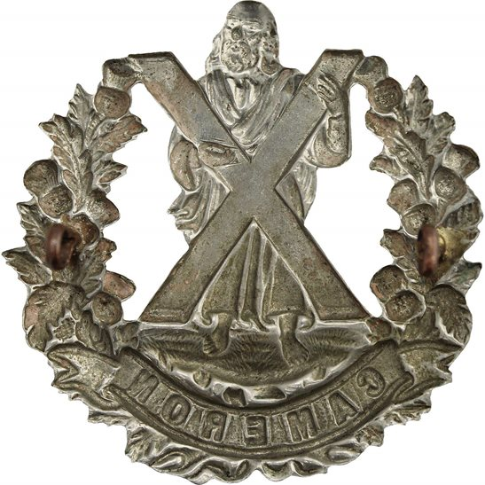 additional image for WW1 Queens Own Cameron Highlanders Regiment Cap Badge