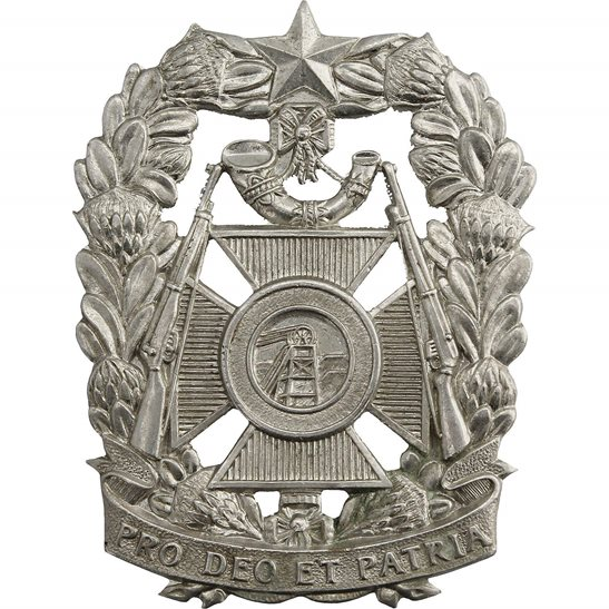 South African Army South African Witwatersrand Rifles Regiment Africa Cap Badge