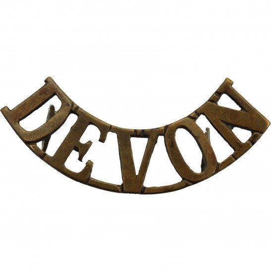 Devonshire Regiment Devonshire Regiment (Devon) Shoulder Title