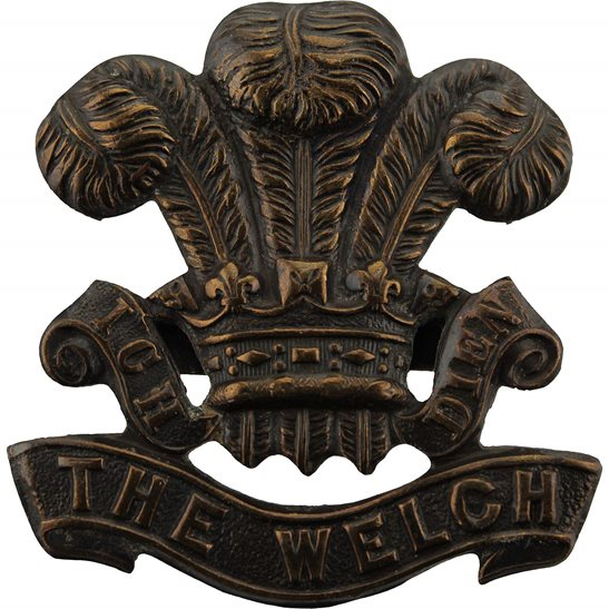 Welch Regiment WW2 Welch Regiment (Welsh) OFFICERS Bronze Cap Badge