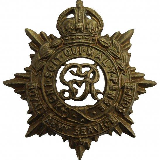 Royal Army Service Corps RASC WW1 Royal Army Service Corps RASC (George V) Collar Badge
