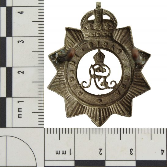 additional image for WW1 North Somerset Yeomanry Regiment Cap Badge