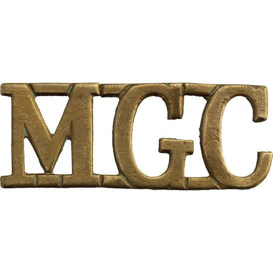 Machine Gun Corps MGC WW1 Machine Gun Corps MGC Regiment Shoulder Title