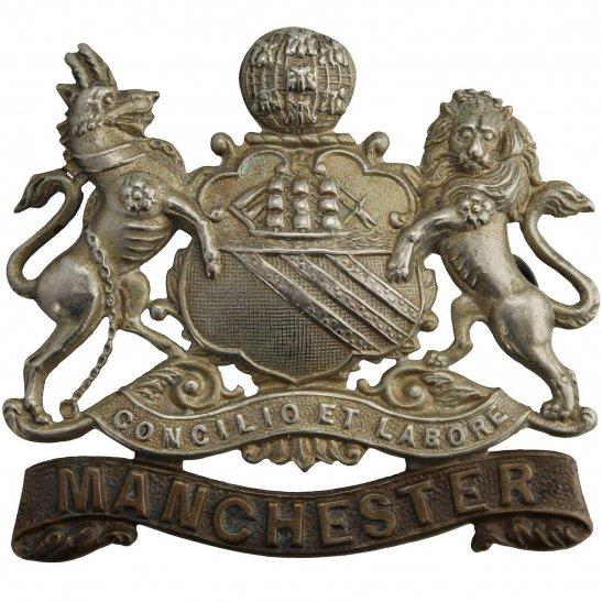 Manchester Regiment VICTORIAN / EDWARDIAN Manchester Regiment Cap Badge - LUGS VERSION