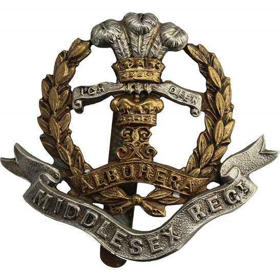 Middlesex Regiment WW2 Middlesex Regiment Cap Badge