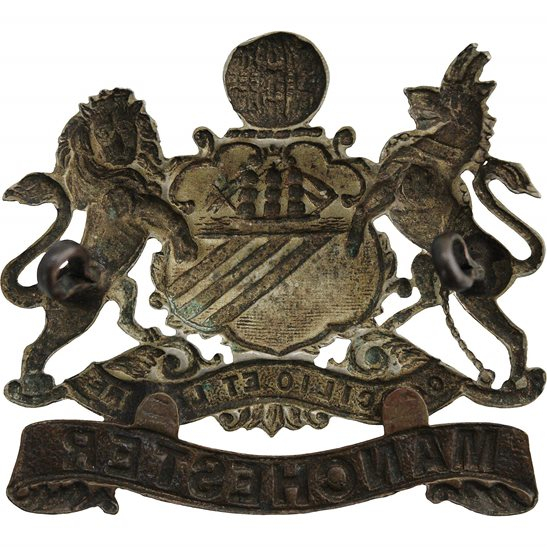 additional image for VICTORIAN / EDWARDIAN Manchester Regiment Cap Badge - LUGS VERSION