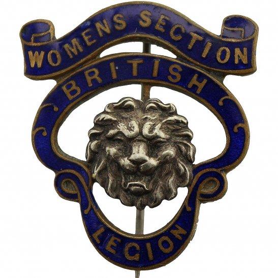 Womens Section Royal British Legion RBL Lapel Badge