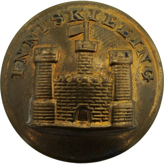 Royal Inniskilling Fusiliers WW1 Royal Inniskilling Fusiliers Regiment Tunic Button - 26mm