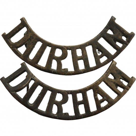 Durham Light Infantry DLI Durham Light Infantry Regiment DLI Shoulder Title PAIR