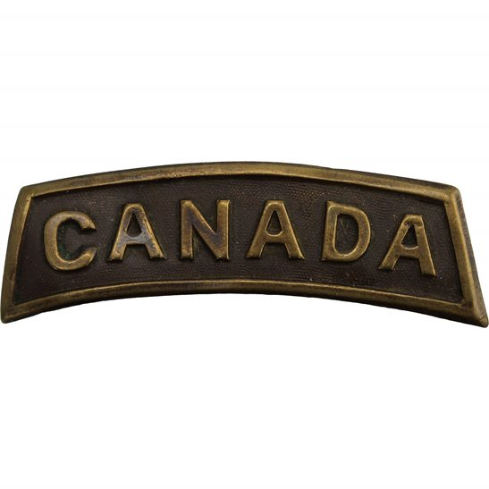 WW1 Canadian Army WW1 Canadian Division / Canada Corps General Service Shoulder Title