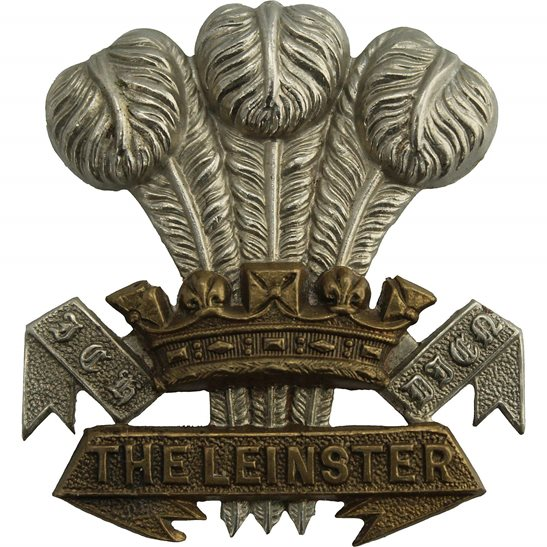 Leinster Regiment VICTORIAN / EDWARDIAN Leinster Regiment Irish Cap Badge - LUGS VERSION