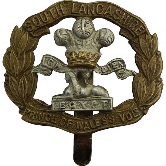 South Lancashire WW1 South Lancashire Regiment Cap Badge