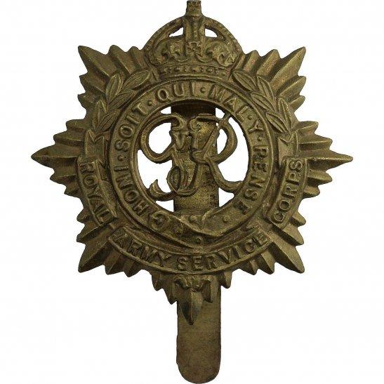 Royal Army Service Corps RASC WW2 Royal Army Service Corps (George VI) RASC Cap Badge