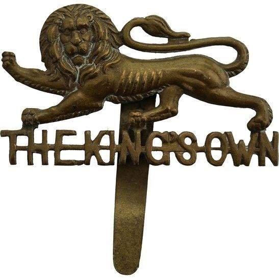 Kings Own Royal Lancaster WW1 Kings Own Royal Lancaster Regiment King's Cap Badge