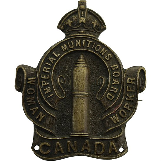 Canadian Women War Worker Imperial Munitions Board Volunteer Canada Lapel Badge