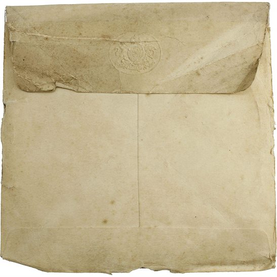WW1 Penny / Death Plaque Inner Paper Envelope Cover