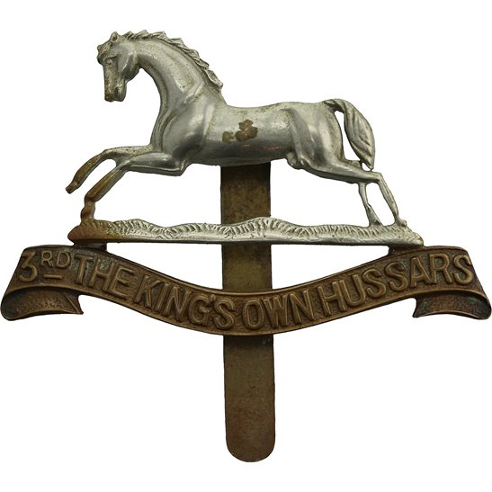 3rd Kings Own Hussars WW1 3rd Kings Own Hussars Regiment (King's) Cap Badge
