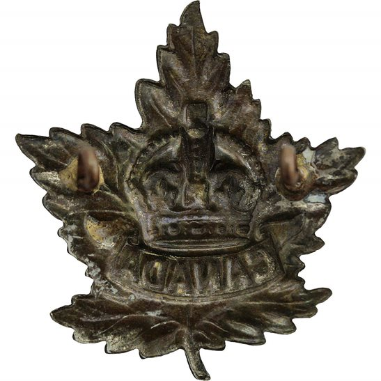 additional image for WW2 Canadian Army Division / Canada Corps CEF WHITE METAL Cap Badge