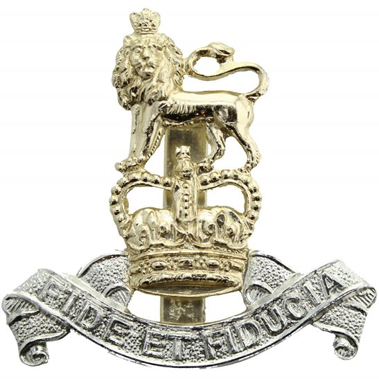 Royal Army Pay Corps RAPC Royal Army Pay Corps RAPC Staybrite Anodised Cap Badge - Staybright