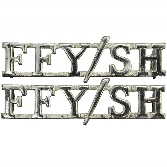Fife and Forfar Yeomanry Fife and Forfar Yeomanry / Scottish Horse Regiment FFY/SH Shoulder Title PAIR