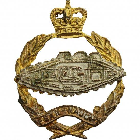 Royal Tank Regiment Royal Tank Regiment OFFICERS Gilt Collar Badge - QUEENS CROWN