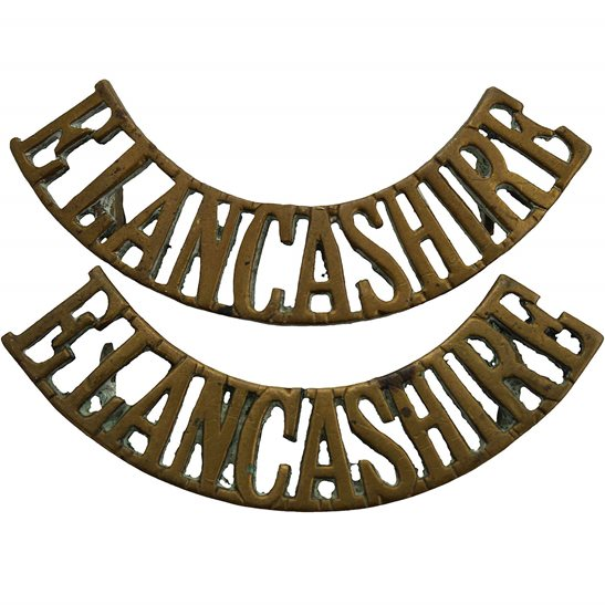 East Lancashire East Lancashire Regiment Shoulder Title PAIR