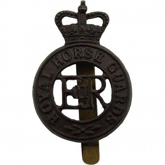 Royal Horse Artillery RHA Royal Horse Guards Regiment RHG Cap Badge DOWLER BIRMINGHAM - Queens Crown
