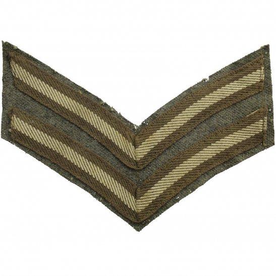 WW1 British Army Corporals Cloth Chevron Insignia Rank Stripes