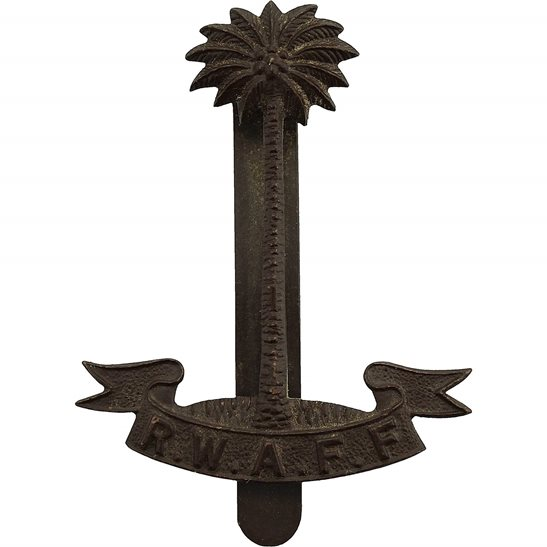 Royal West African Frontier Force RWAFF Royal West African Frontier Field Force RWAFF Cap Badge - FIRMIN LONDON