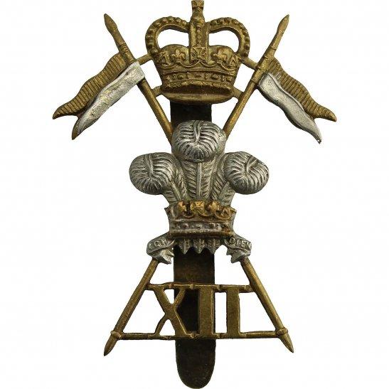 12th Lancers 12th Royal Lancers Regiment Cap Badge - Queens Crown