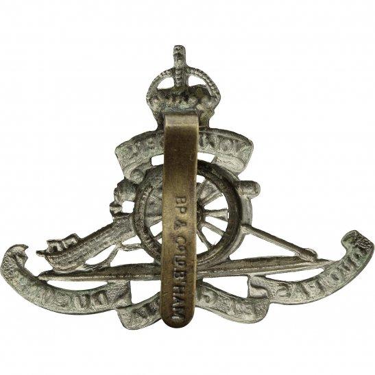 additional image for Royal Artillery White Metal VOLUNTEERS Cap Badge - BP & CO LD B'HAM Makers Mark